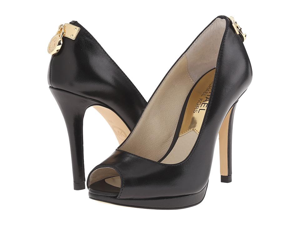 MICHAEL Michael Kors - Hamilton Peep (Black 1) High Heels