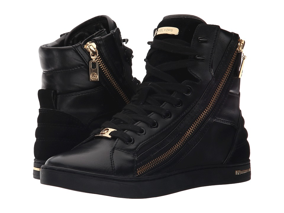 MICHAEL Michael Kors - Glam Essex High Top (Black) Women's Zip Boots