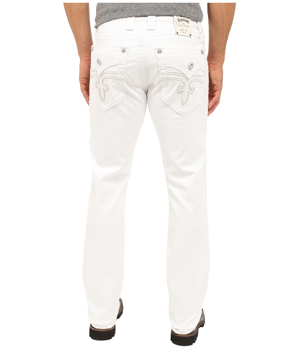 Rock Revival - Jack A18 Alt Straight Leg (White) Men's Casual Pants