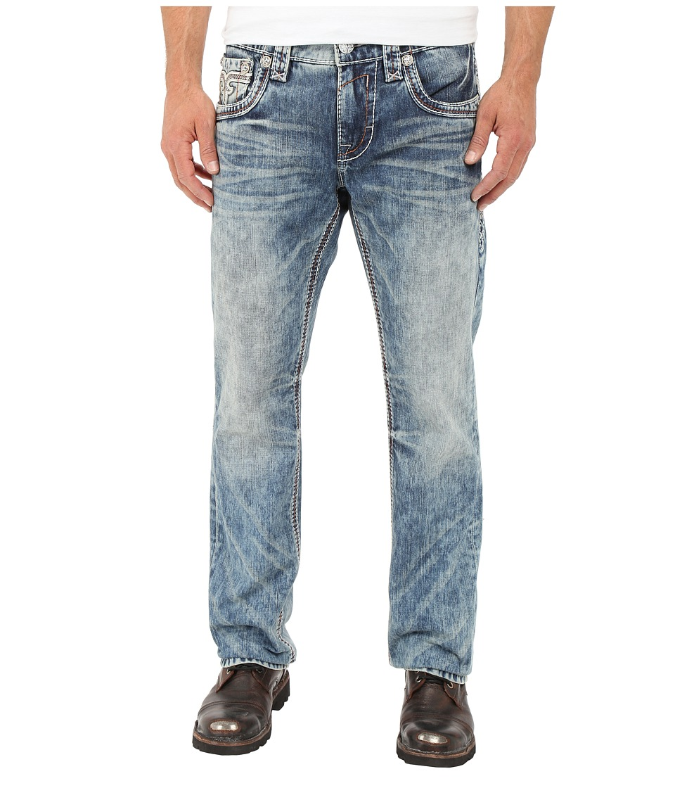 Rock Revival - Edwin J400 Straight Leg (Vintage Blue) Men's Jeans