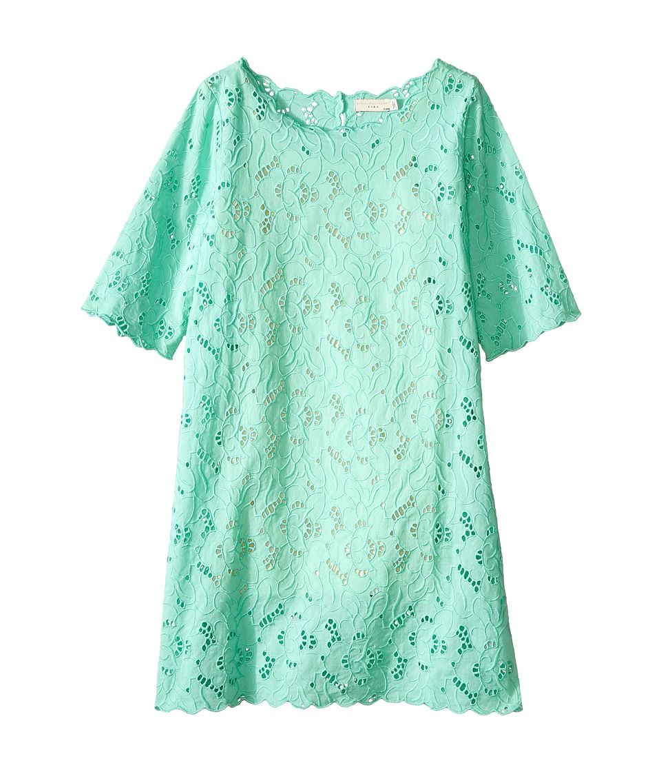 Stella McCartney Kids - Ettie Eyelet Dress (Toddler/Little Kids/Big Kids) (Aqua) Girl's Dress