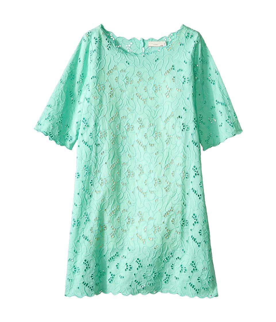 Stella McCartney Kids - Ettie Eyelet Dress (Toddler/Little Kids/Big Kids) (Aqua) Girl's Dress