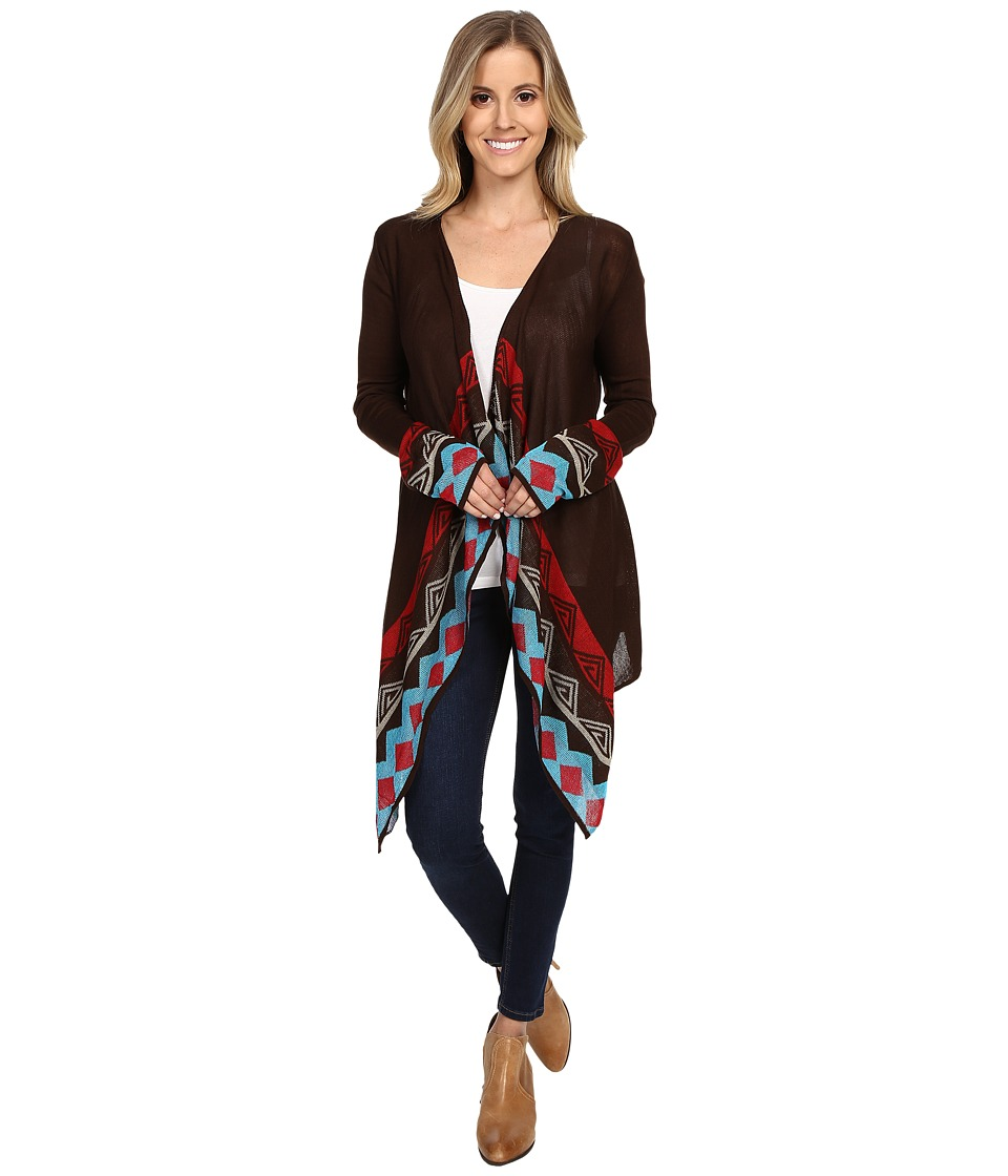 Scully - Rowena Cardigan (Brown) Women's Sweater