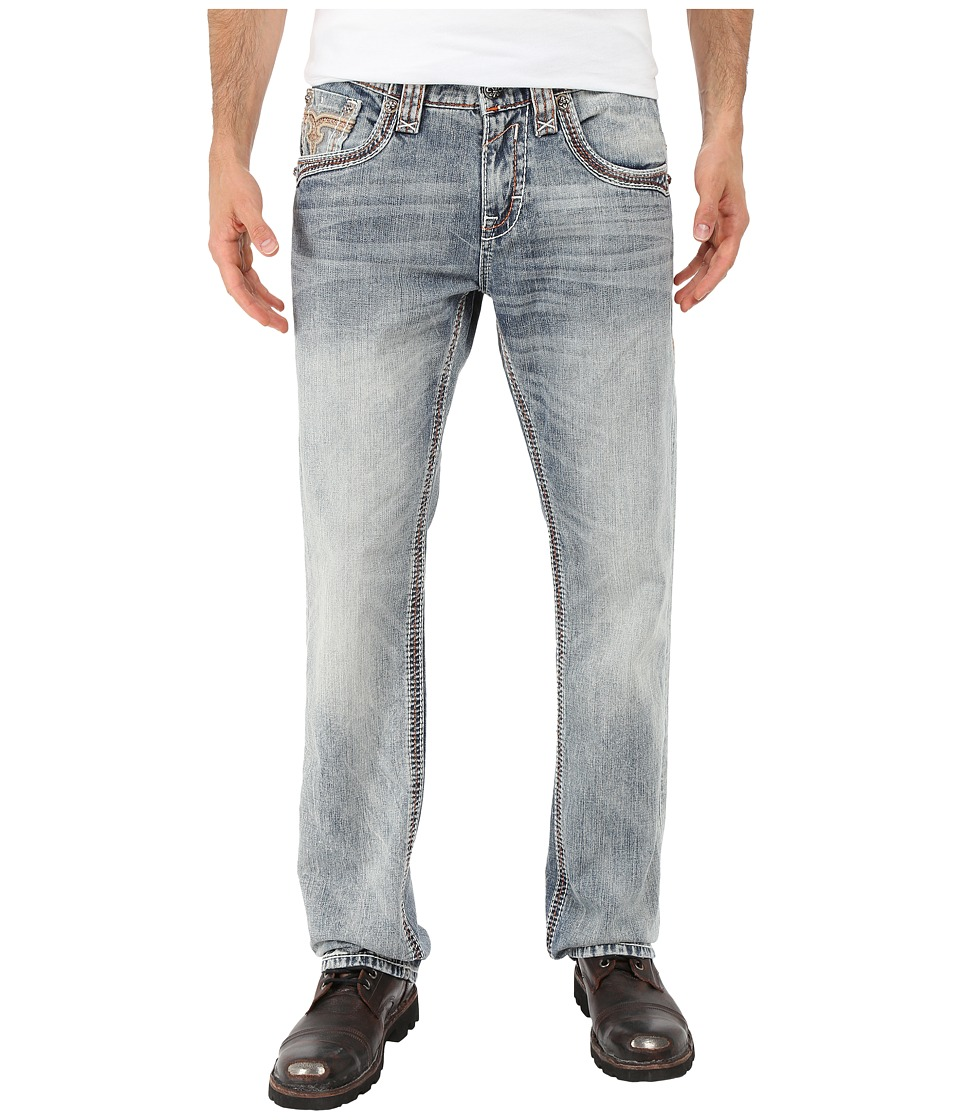 Rock Revival - Feeney J206 Straight Leg (Light Blue) Men's Jeans