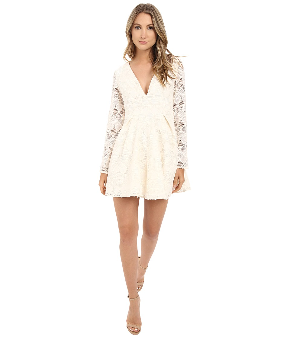 StyleStalker Empire Long Sleeve Dress (Ivory) Women