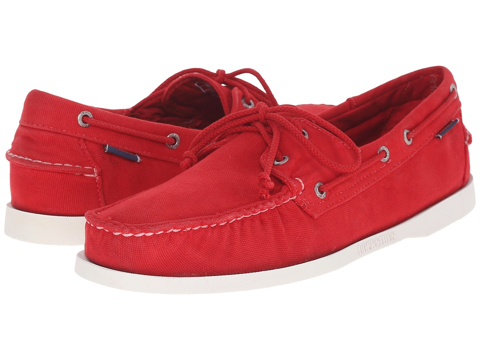 Sebago - Canvas Dockside (Red Canvas) Men's Shoes