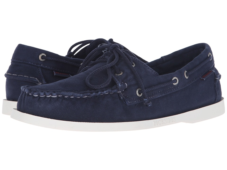 Sebago - Canvas Dockside (Navy Canvas) Men's Shoes