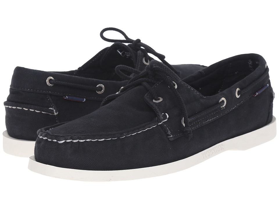 Sebago - Canvas Dockside (Black Canvas) Men's Shoes
