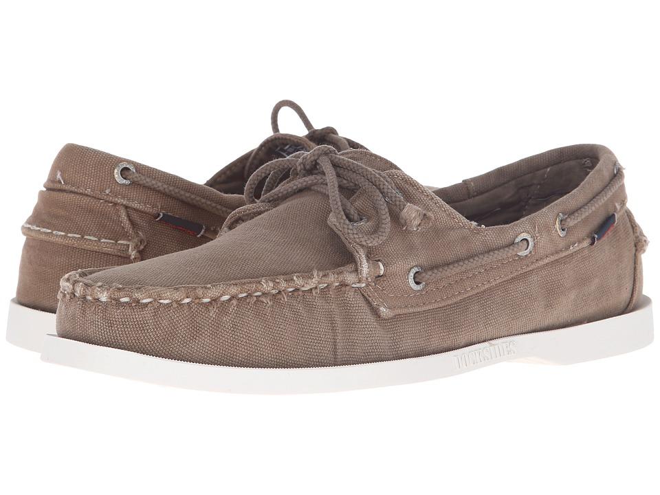 Sebago - Canvas Dockside (Dark Taupe Canvas) Men's Shoes