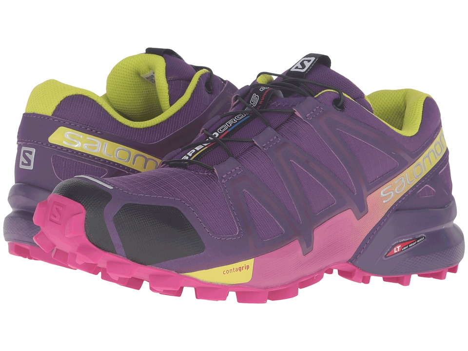 Salomon - Speedcross 4 (Cosmic Purple/Deep Dalhia/Gecko Green) Women's Shoes