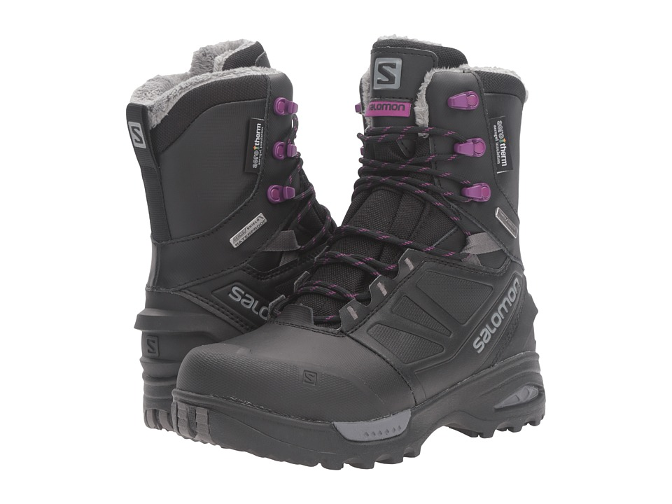 Salomon - Toundra PRO CS WP (Black/Black/Passion Purple) Women's Shoes