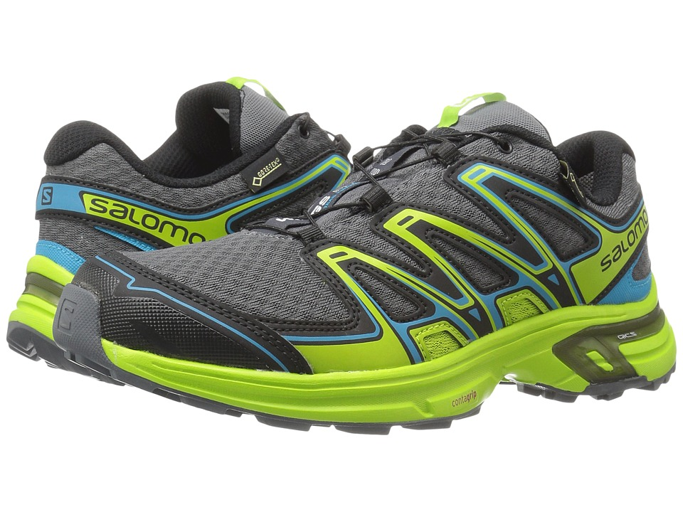 Salomon - Wings Flyte 2 GTX (Dark Cloud/Granny Green/Scuba Blue) Men's Shoes
