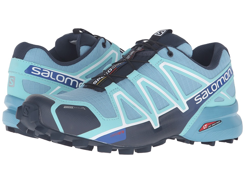 Salomon - Speedcross 4 CS (Blue Gum/Bubble Blue/Deep Blue) Women's Shoes
