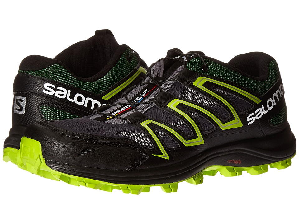 Salomon - Speedtrak (Dark Cloud/Black/Granny Green) Men's Shoes