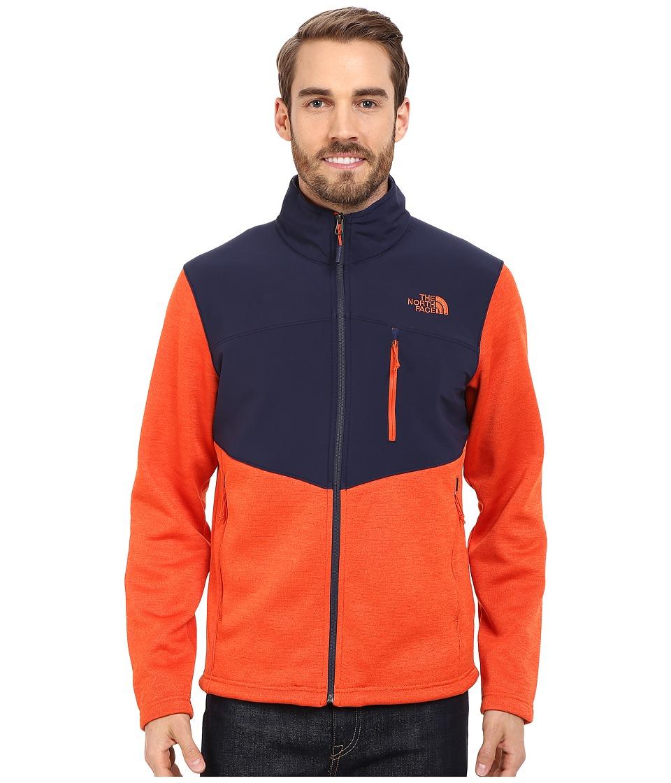 The North Face - Norris Full Zip (Papaya Orange Heather/Cosmic Blue) Men's Coat