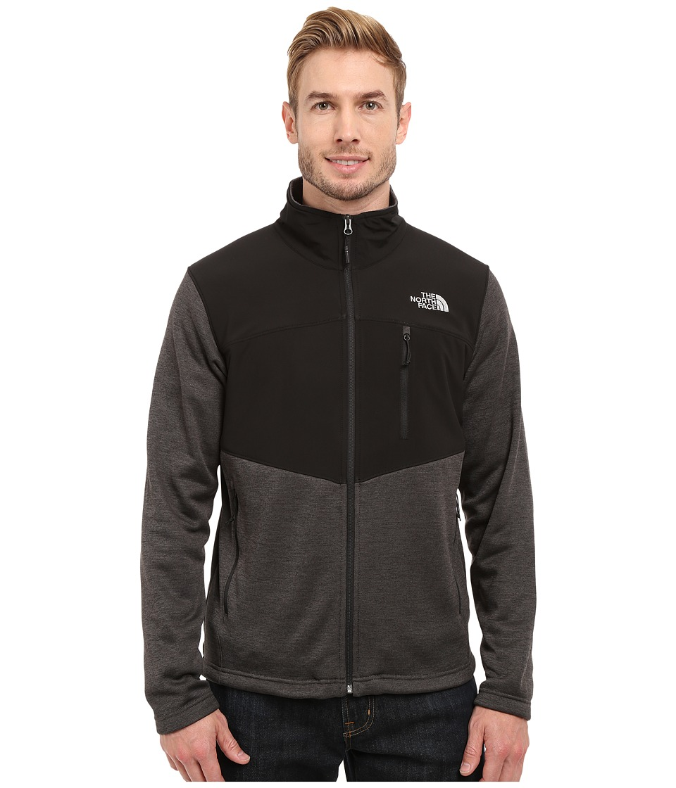 The North Face - Norris Full Zip (Asphalt Grey Heather/TNF Black) Men's Coat