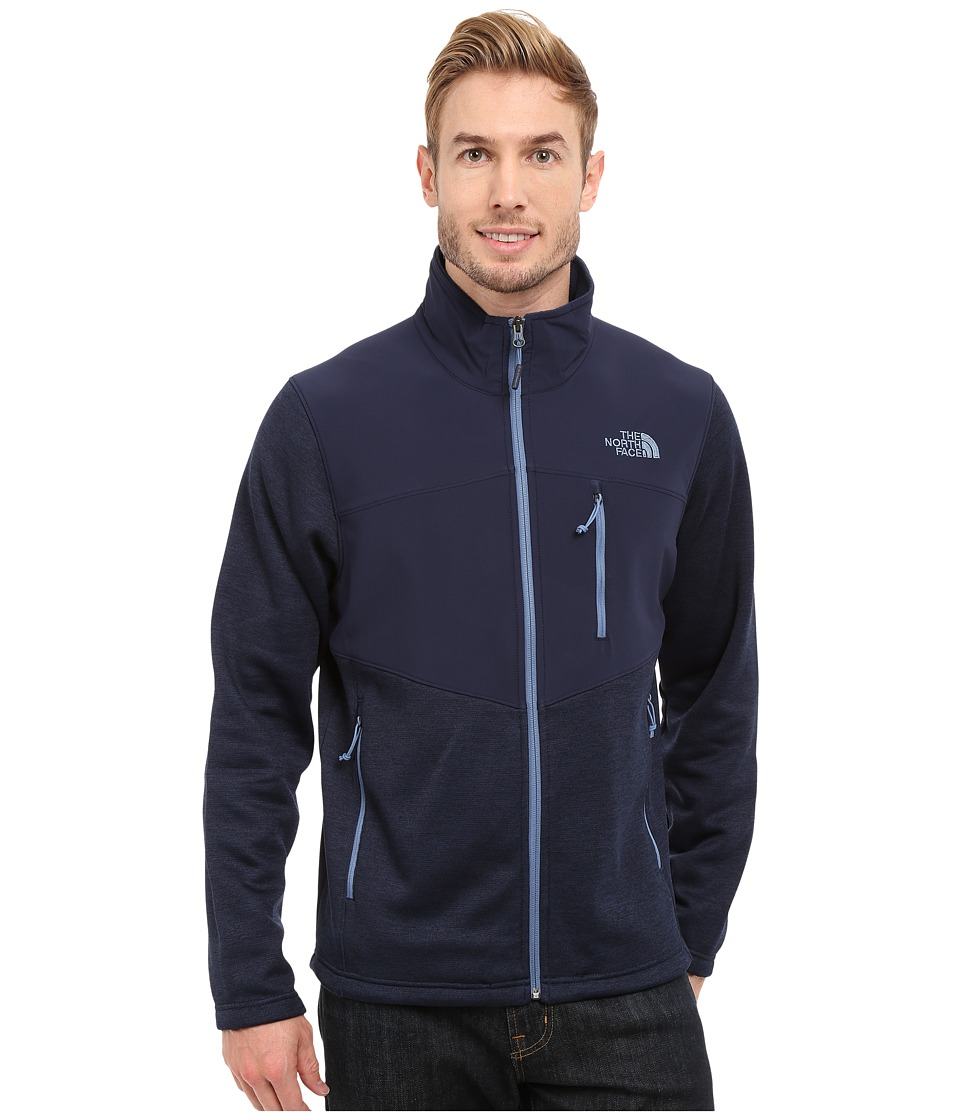 The North Face - Norris Full Zip (Cosmic Blue Heather/Cosmic Blue) Men's Coat