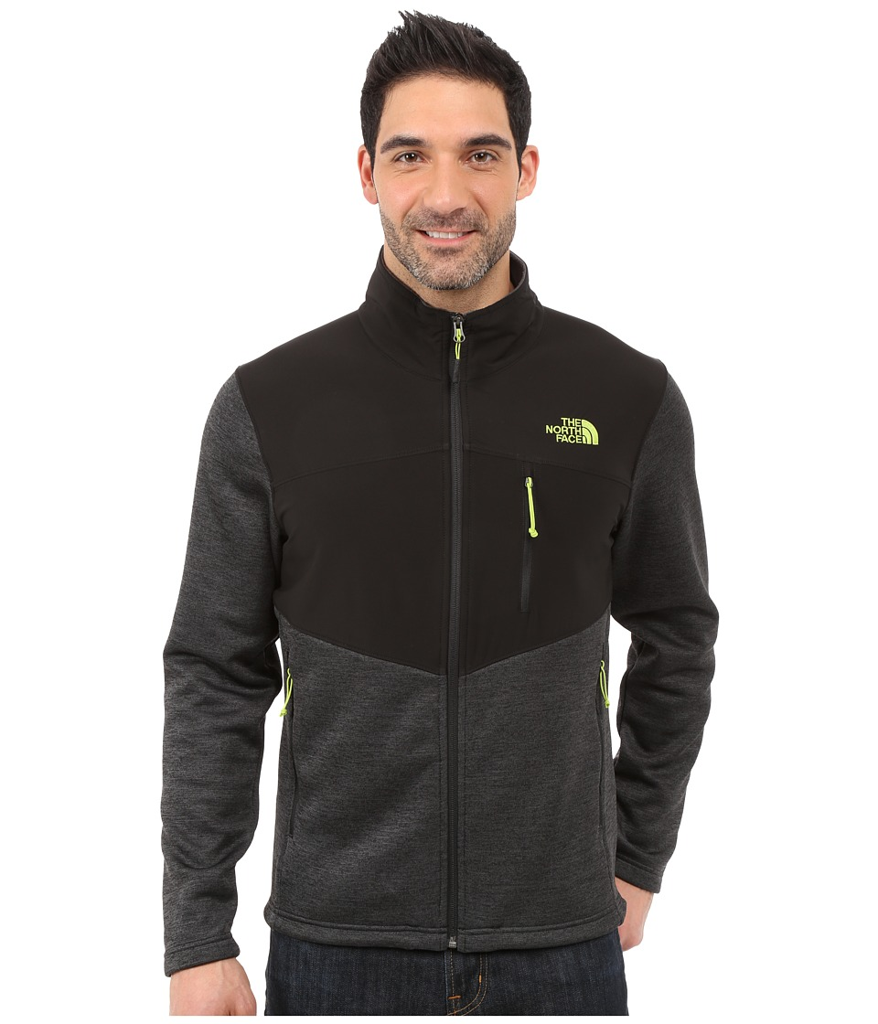 The North Face - Norris Full Zip (TNF Black Heather/TNF Black) Men's Coat