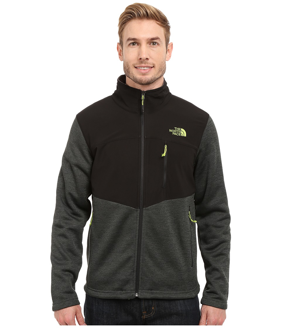 The North Face - Norris Full Zip (Spruce Green Heather/TNF Black) Men's Coat