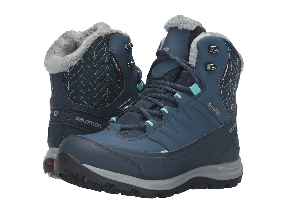 Salomon - Ka na Mid CS WP 2 (Deep Blue/Slateblue/Bubble Blue) Women's Shoes
