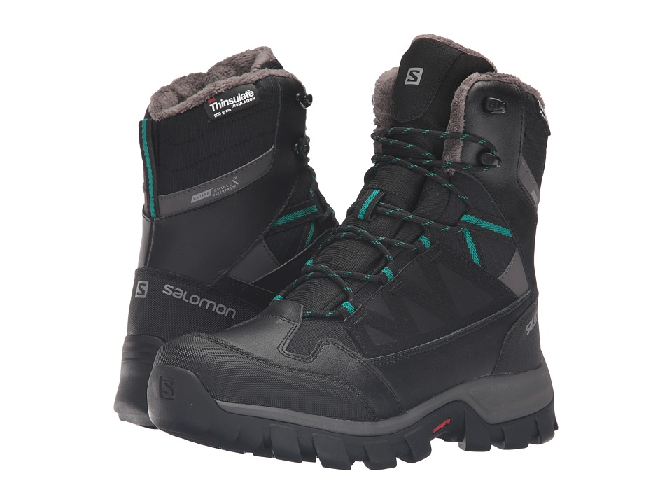 Salomon - Chalten TS CS WP (Black/Autobahn/Veridian Green) Women's Shoes