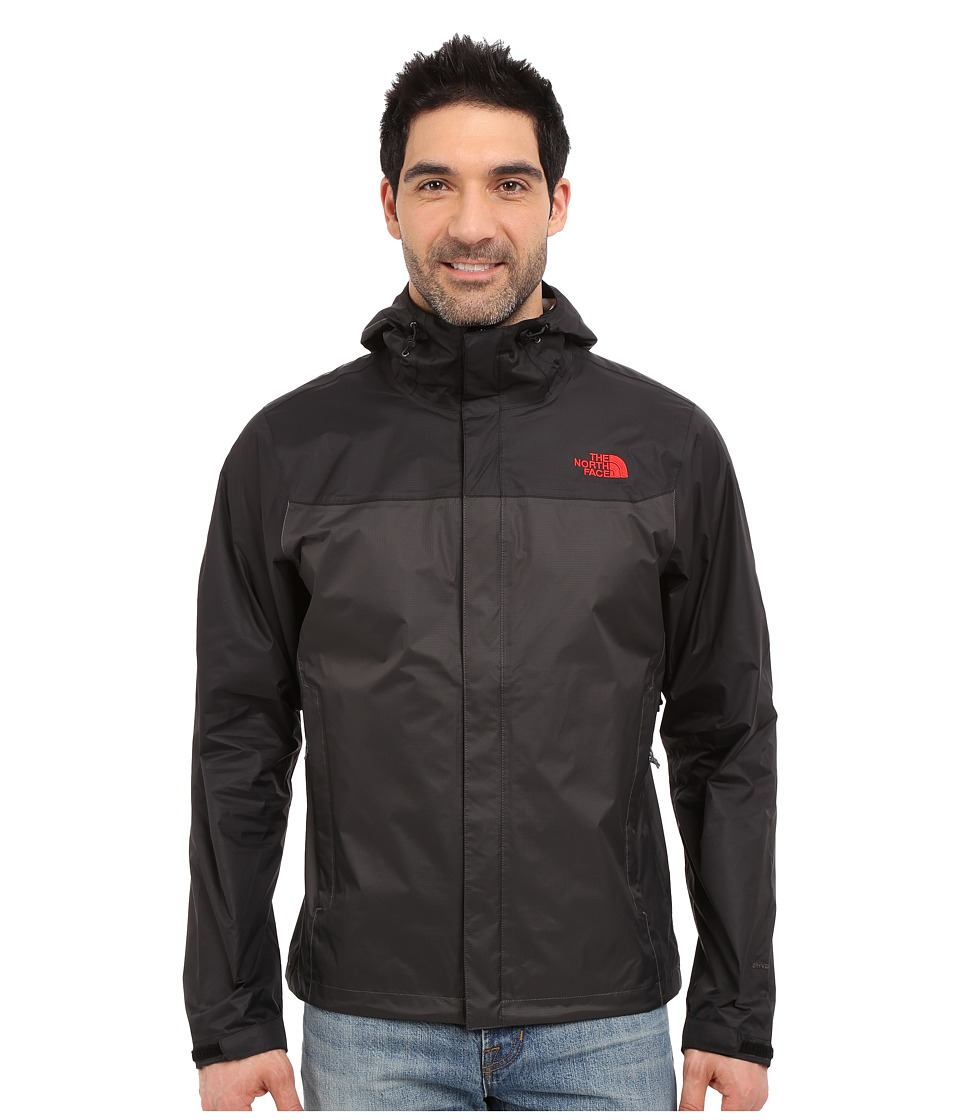 The North Face - Venture Jacket (Asphalt Grey/TNF Black/TNF Red) Men's Jacket