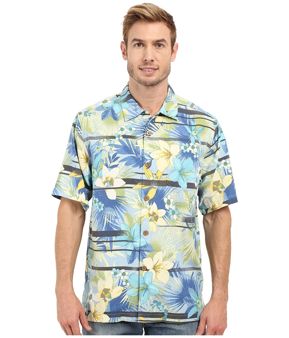 Tommy Bahama - Jungle Horizon Woven Shirt (Fountain Bluebell) Men's Clothing