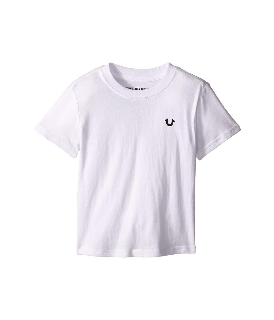 True Religion Kids - Branded Logo Tee Shirt (Toddler/Little Kids) (White) Boy