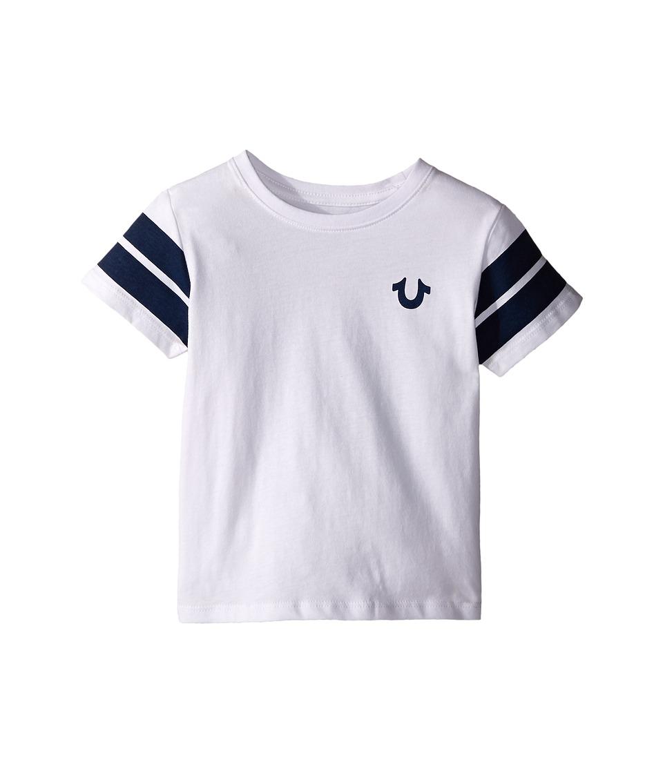True Religion Kids - Varsity Paneled Tee Shirt (Toddler/Little Kids) (White) Boy
