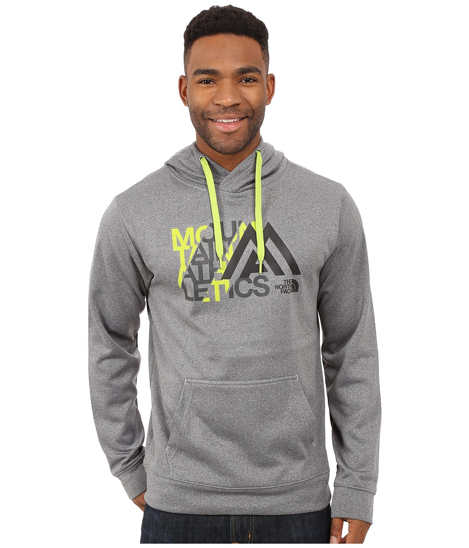 The North Face - MA Graphic Surgent Hoodie (TNF Medium Grey Heather/Macaw Green) Men's Sweatshirt