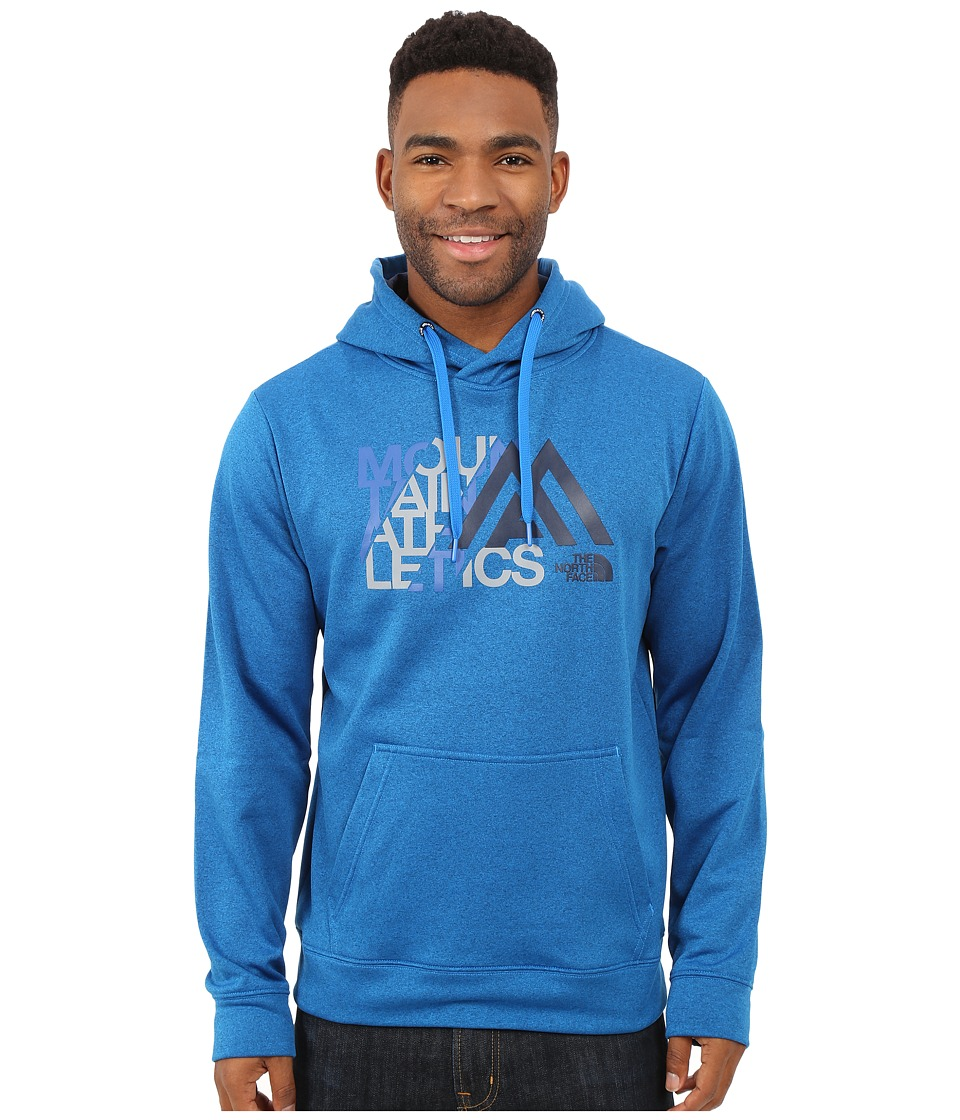 The North Face - MA Graphic Surgent Hoodie (Bomber Blue Heather/Cosmic Blue) Men's Sweatshirt