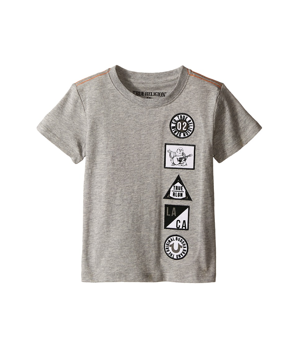 True Religion Kids - Patches Tee Shirt (Toddler/Little Kids) (Heather Grey) Boy's T Shirt