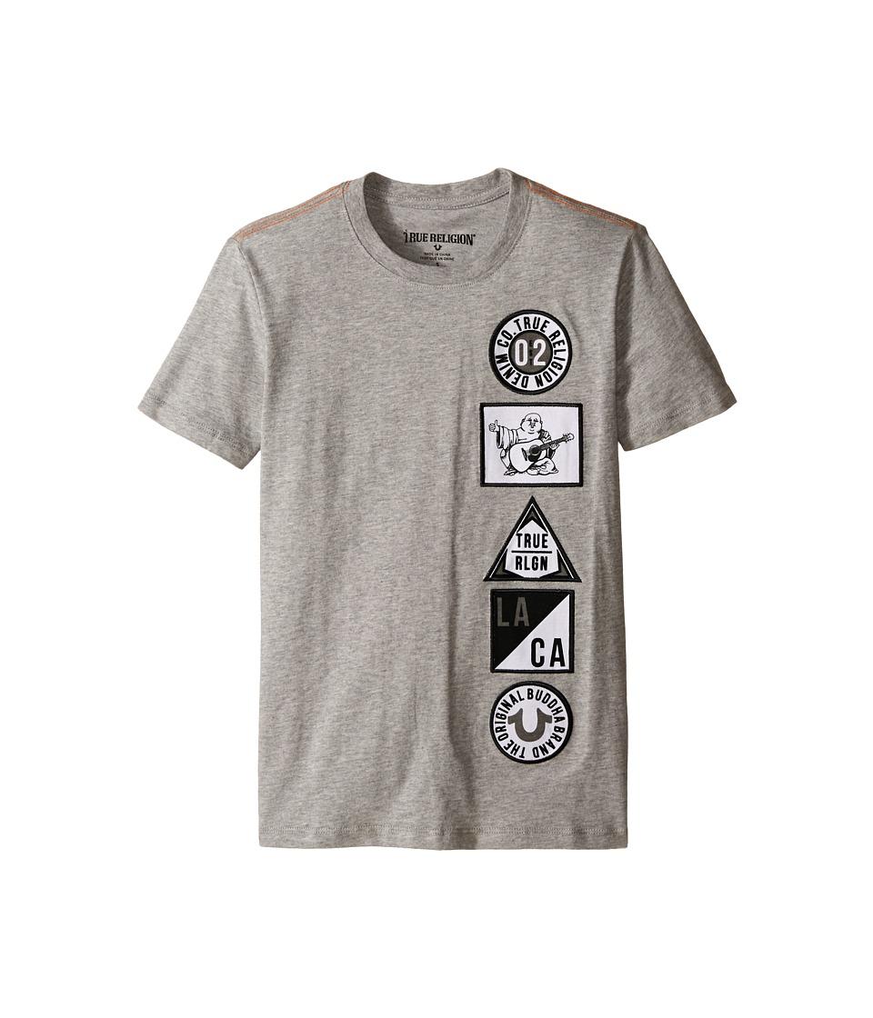 True Religion Kids - Patches Tee Shirt (Big Kids) (Heather Grey) Boy