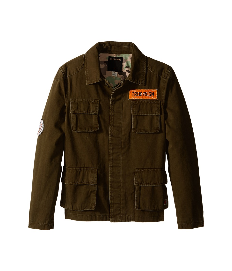 True Religion Kids - Military Jacket (Big Kids) (Olive) Boy's Coat