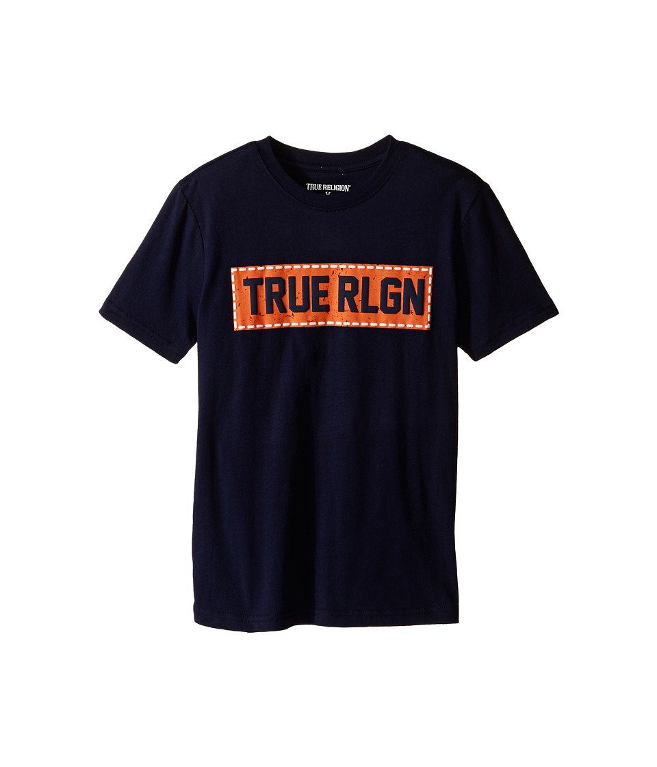 True Religion Kids - Box Stitch Tee Shirt (Big Kids) (Midnight) Boy's T Shirt