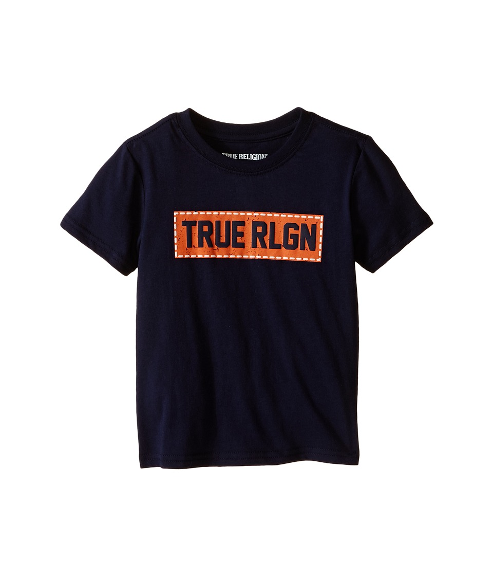 True Religion Kids - Box Stitch Tee Shirt (Toddler/Little Kids) (Midnight) Boy's T Shirt