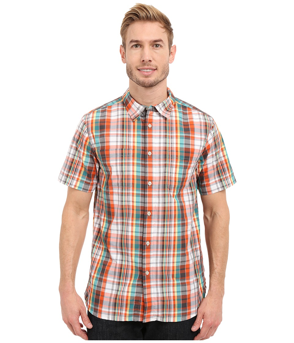 The North Face - Short Sleeve Solar Plaid Shirt (Mid Grey/Asphalt Grey Plaid) Men's Clothing