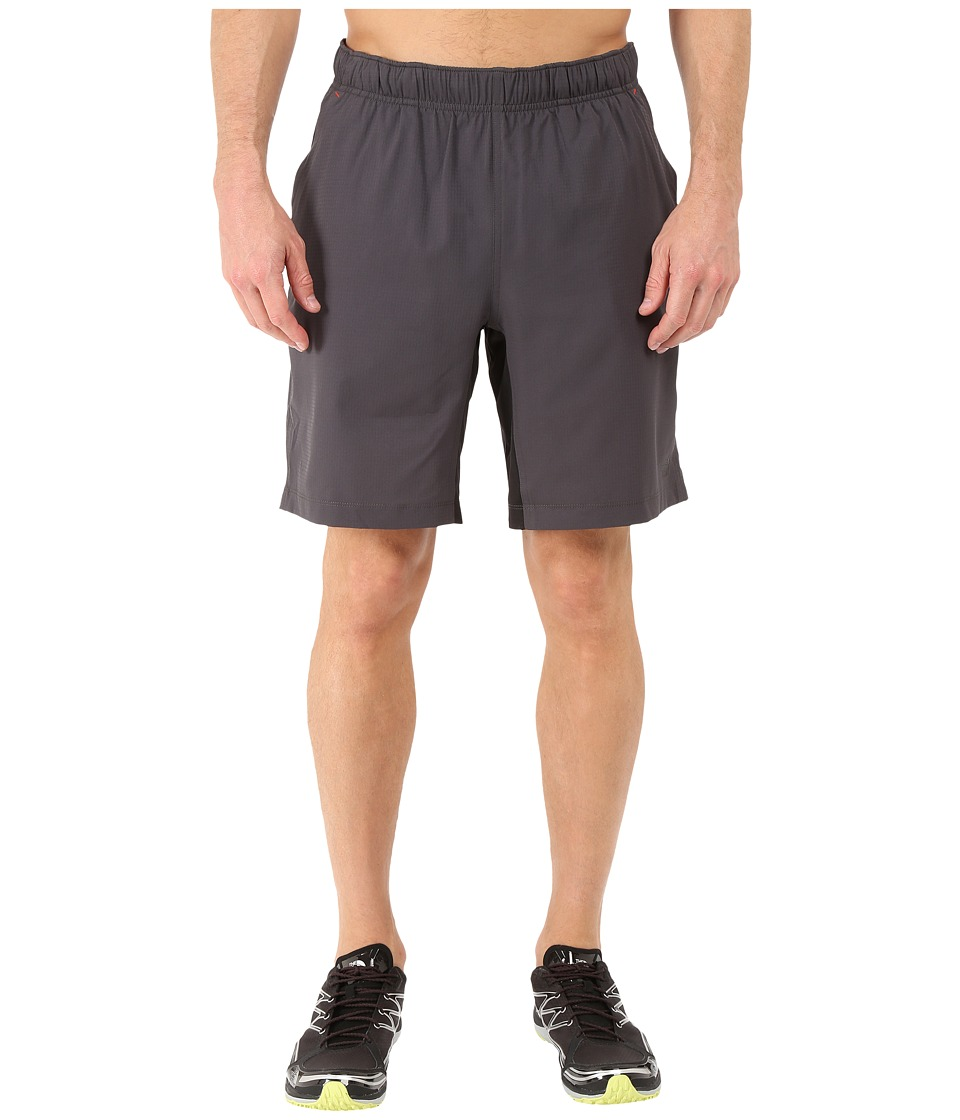 The North Face - Ampere Dual Shorts (Asphalt Grey/Fiery Red) Men's Shorts