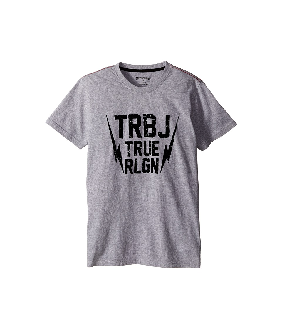 True Religion Kids - Thunder Bolt Tee Shirt (Big Kids) (Heather Grey) Boy's T Shirt