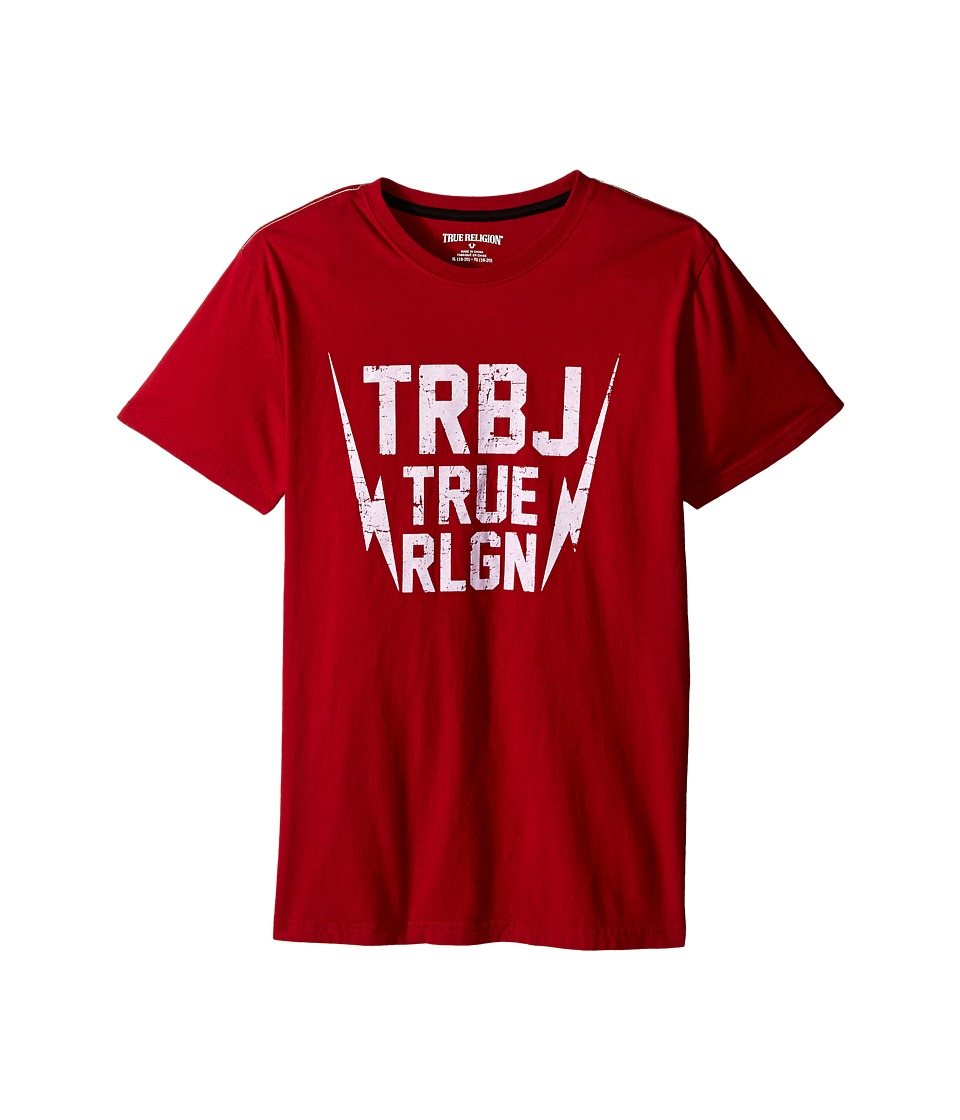 True Religion Kids - Thunder Bolt Tee Shirt (Big Kids) (True Red) Boy