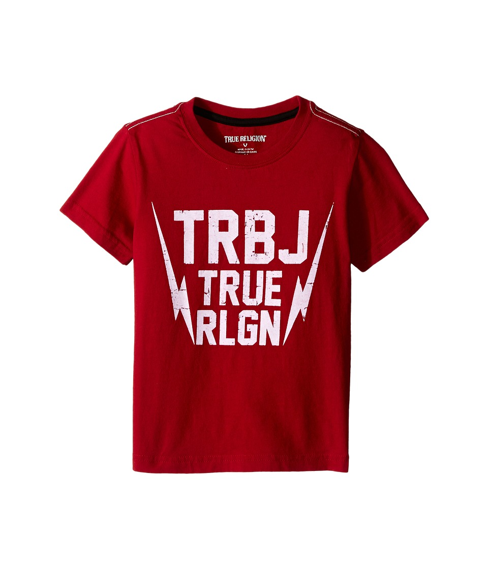 True Religion Kids - Thunder Bolt Tee Shirt (Toddler/Little Kids) (True Red) Boy's T Shirt