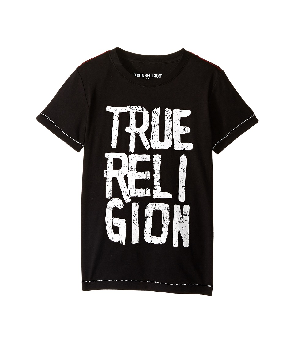 True Religion Kids - Chalk Tee Shirt (Toddler/Little Kids) (Black) Boy's T Shirt