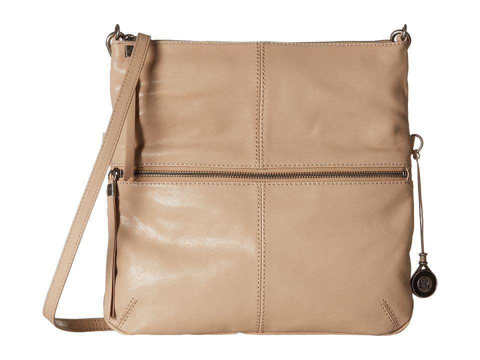 The Sak - Sanibel Foldover Crossbody (Taupe) Cross Body Handbags