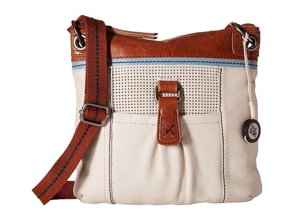 The Sak - Kendra Leather Crossbody (Stone Perf) Cross Body Handbags