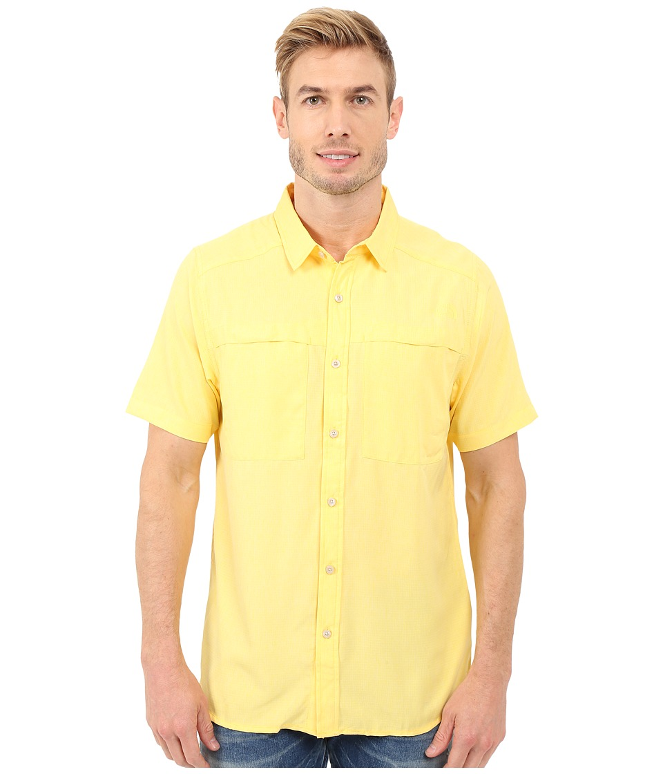 The North Face - Short Sleeve Traverse Shirt (Goldfinch Yellow Heather) Men's Clothing