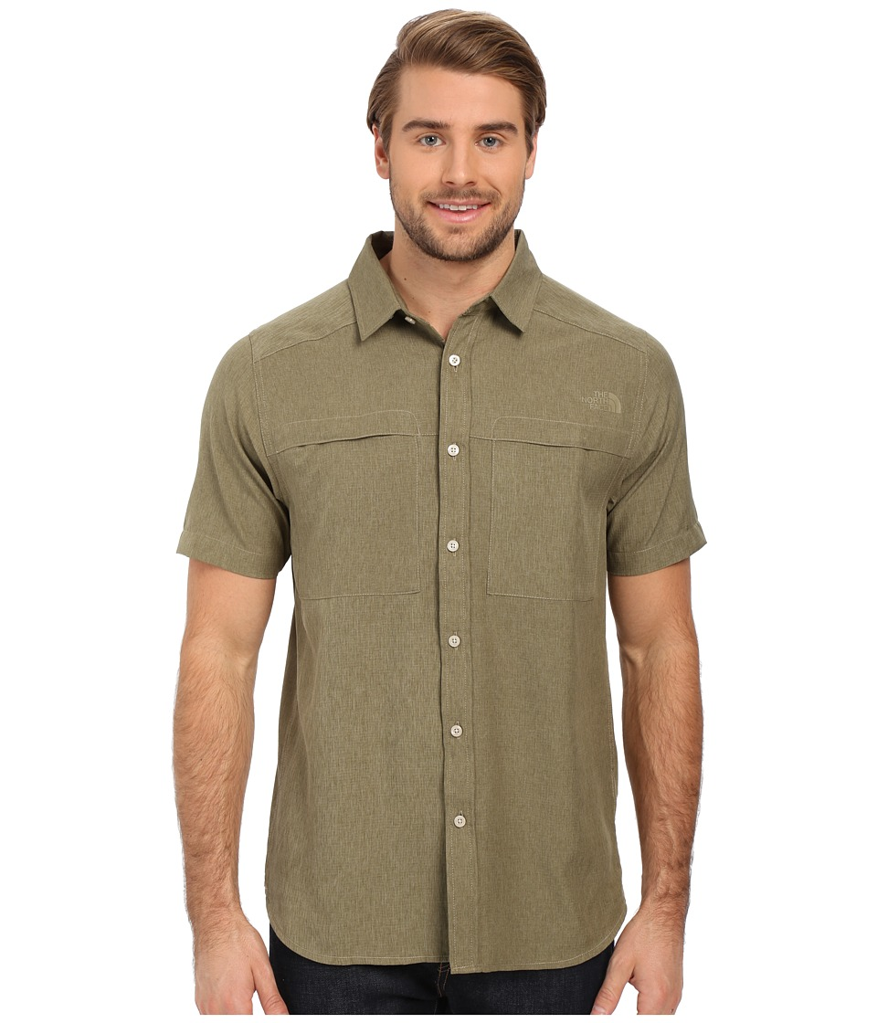 The North Face - Short Sleeve Traverse Shirt (Mountain Moss Heather) Men's Clothing