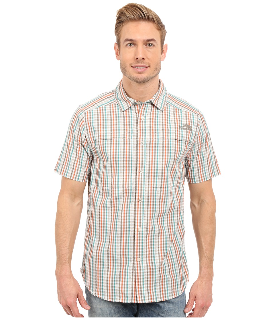 The North Face - Short Sleeve Traverse Plaid Shirt (Weimaraner Brown/Dune Beige Plaid) Men's Short Sleeve Button Up