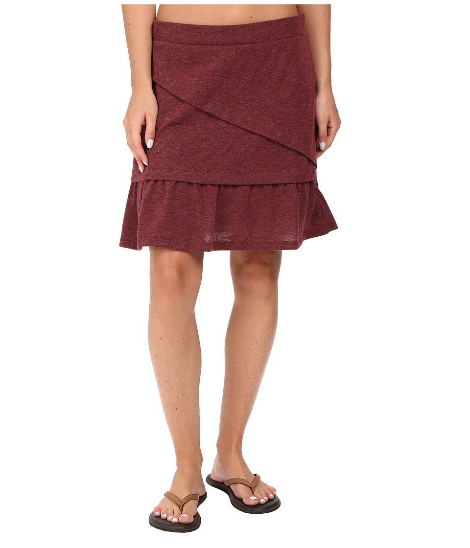 Prana Leah Skirt (Burgundy) Women