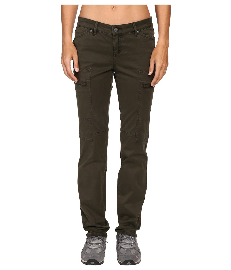 Prana Louisa Straight Leg Pants (Dark Olive) Women
