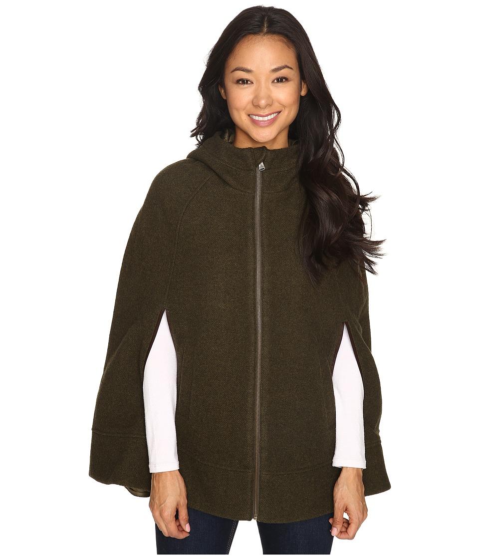 Prana - Whitney Cape (Dark Green Heather) Women's Sweater